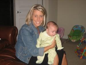 Aunt Joy with Evie!