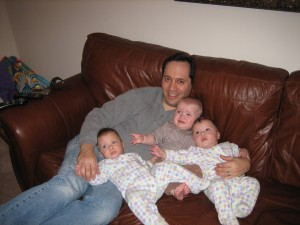 Daddy with Evie, Josh, and Maggie.