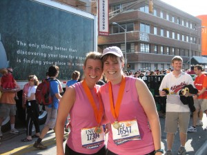 Joy and I after we finished the inagural ING half marathon!!