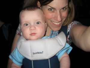 Josh LOVED being in the Bjorn!  My back did not feel quite the same!
