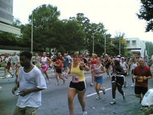 Me in the 2005 Peachtree Road Race!