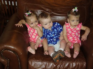 Maggie, Josh, And Evie Are 11 Months Old!