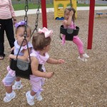 Evie and Maggie never get away from the swing!
