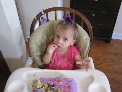 Evie on her birthday!