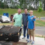 Uncle Charles, Dad, and Ryan grilling!