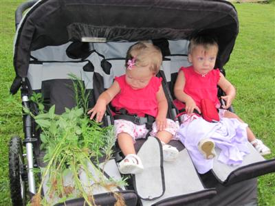 Maggie and Evie with the herbs!