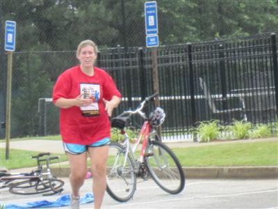 My legs felt really funny running after having ridden the bike.