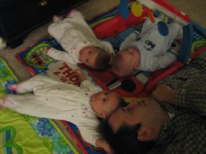 Evie, Maggie, Josh, and Daddy