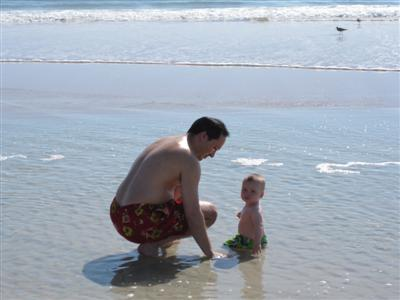Daddy and Josh at the water.