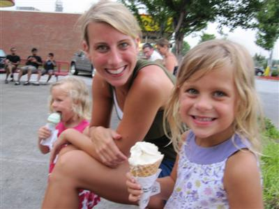 I hope my kids eat ice cream like this one day!!!