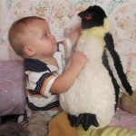 Josh especially loves the penguin!